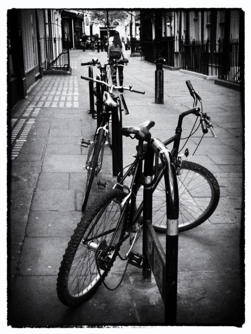 Lynn Bolt | Bicycles in a London Street
