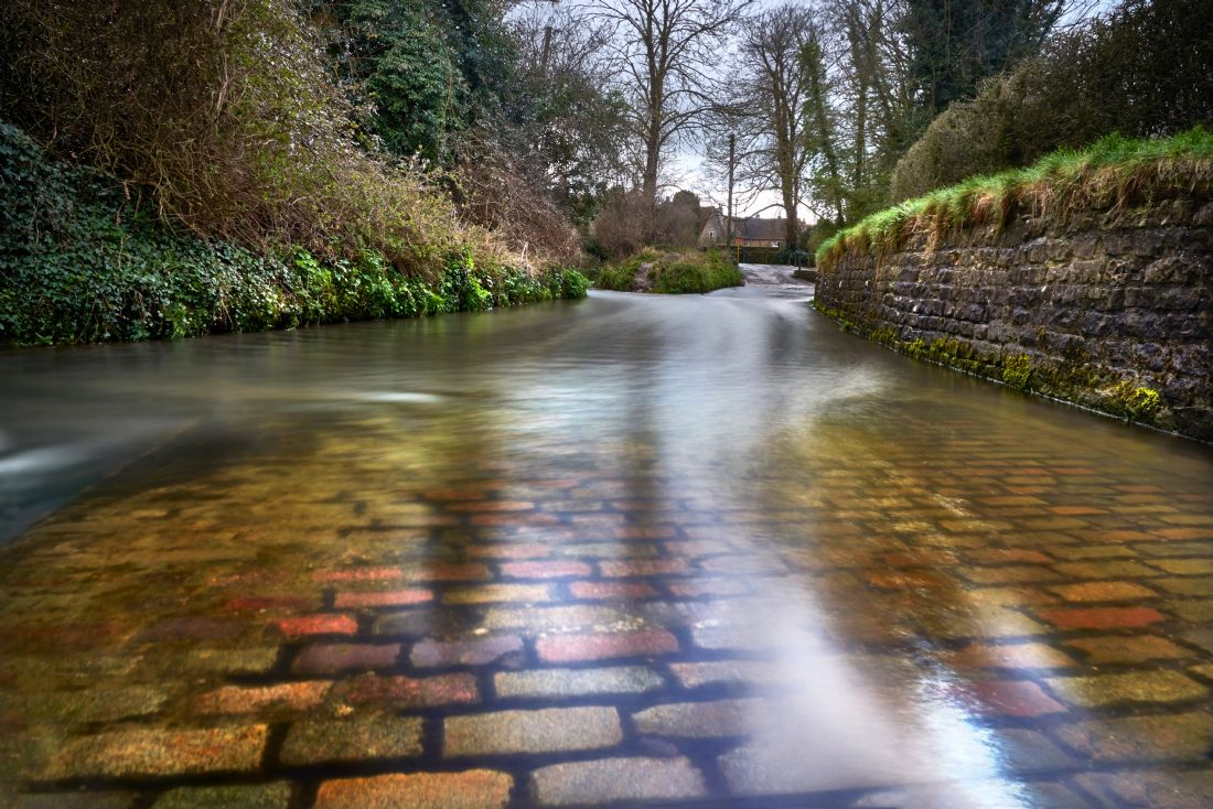 Christopher Chard | The ford through Bide Brook in Lacock