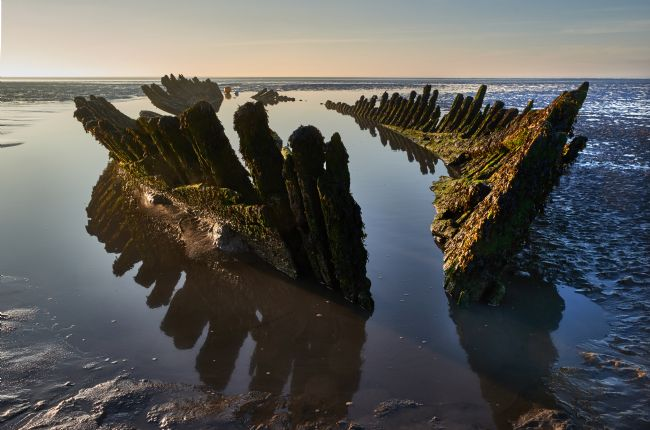 Christopher Chard | The wreck of the Norwegian barque SS Nornen on Berrow beach, Somerset.