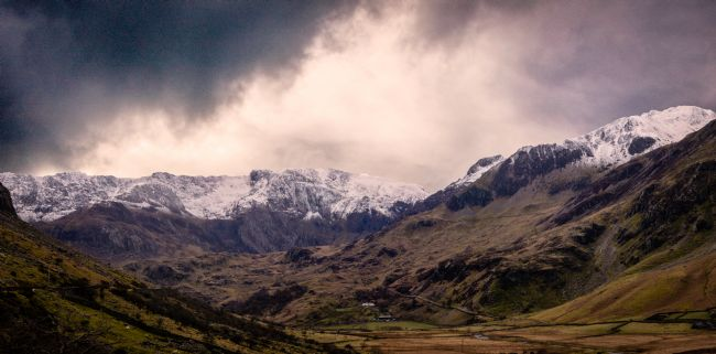 Warren Byrne | Storm Clouds Over Snowdonia Mountain Tops