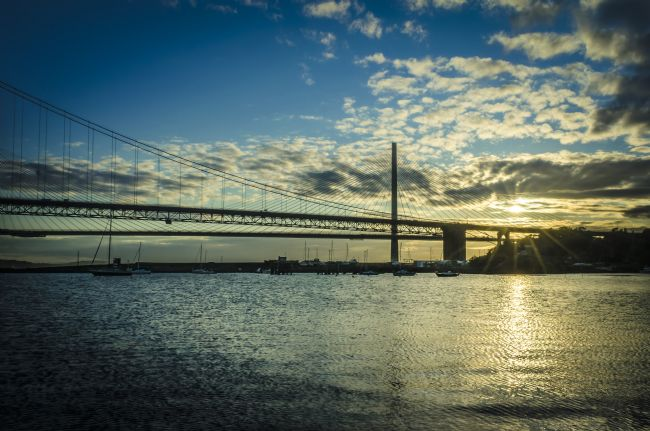 Warren Byrne | Dusk over the Forth Road Bridge