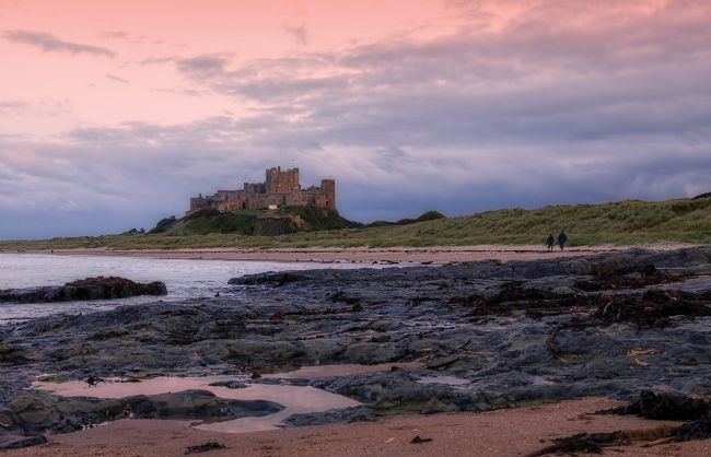 Jon  Jones | Bamburgh Castle in evening light